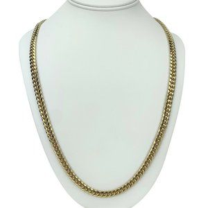 Jewelry - 10k Gold Hollow 6.5mm Cuban Curb Link Necklace 30""